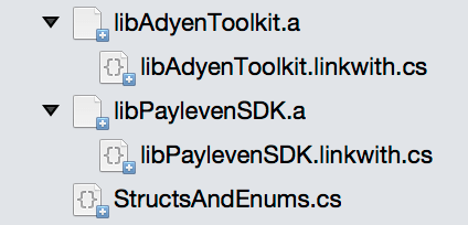 Xamarin Payleven - Link with files