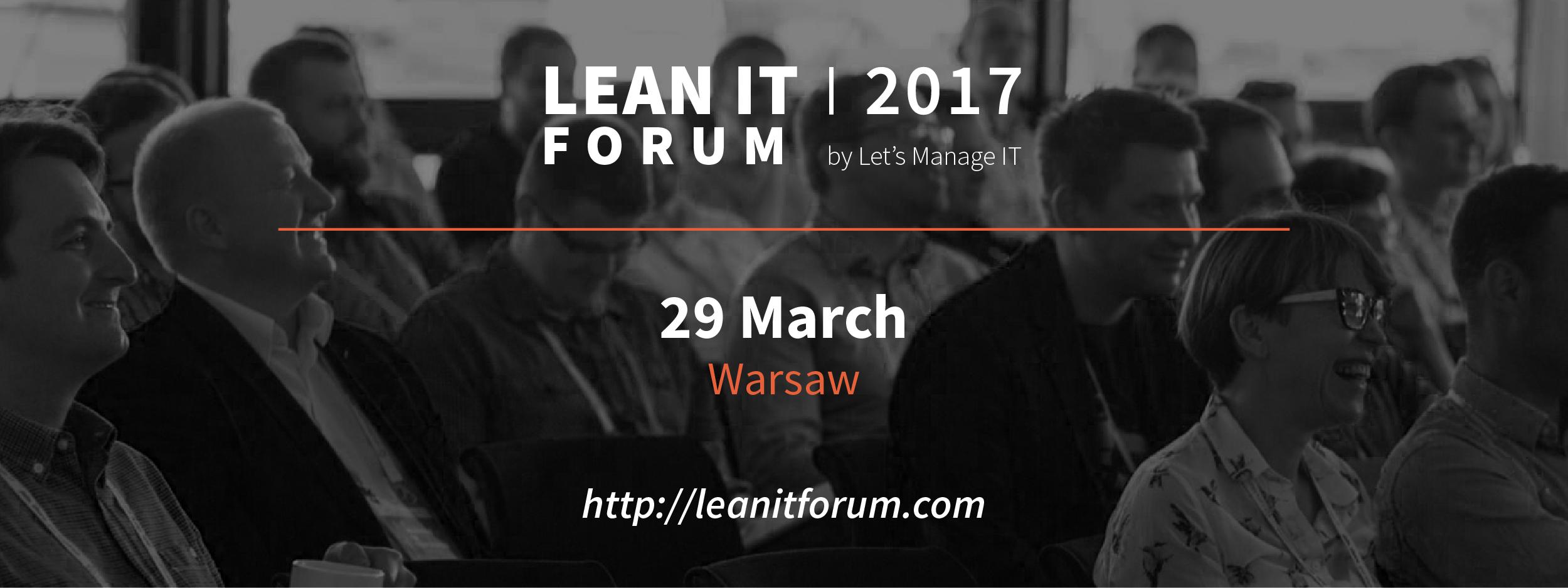 tech conferences in poland - lean it forum registration